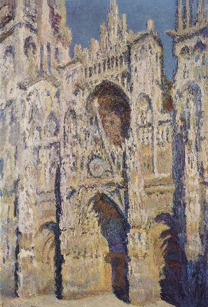 La Cathédrale de Rouen. Le Portail et la tour Saint-Romain, plein soleil (1893)