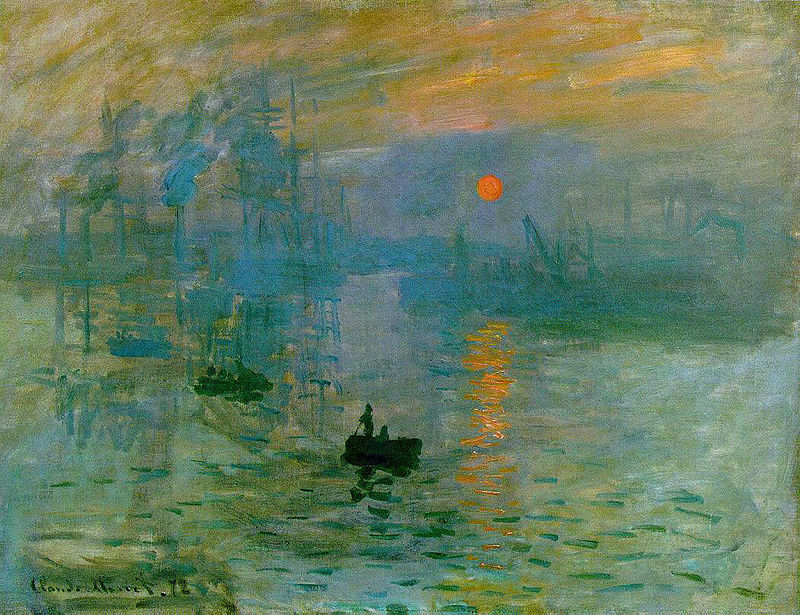 """""""Impressão, nascer do sol"""" (1872)"""