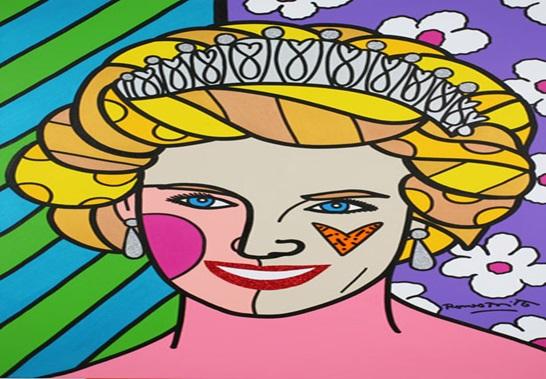 """Princesa Daiana. 2007. 40"""" x 30"""" Acrílico sobre tela."""