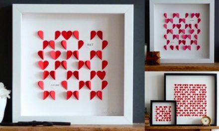 Quadros românticos na decoração