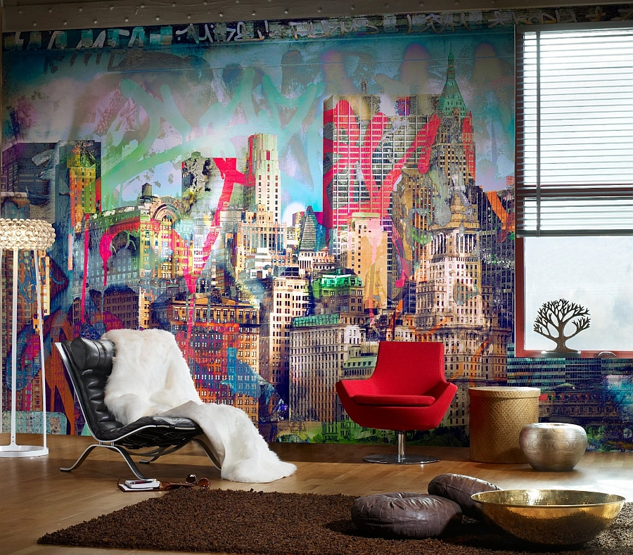 fabulous-and-colorful-graffiti-wall-for-the-eclectic-living-room